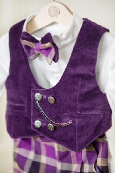 Costum baieti Purple Gentleman