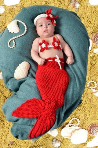 Costum crosetat Mica Sirena