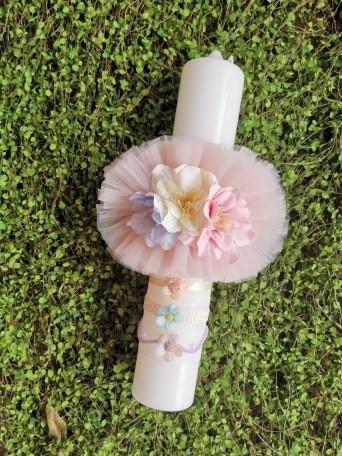 Lumanare botez Flower Paradise