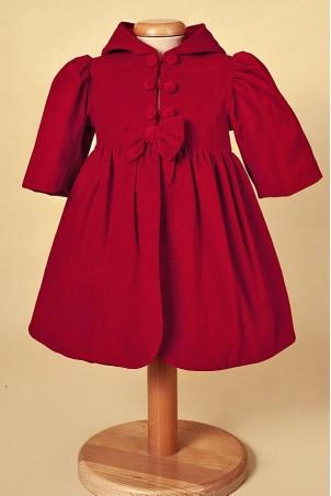 Palton catifea Beautiful Red