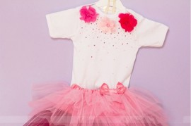 Set body si tutu Pink Flowers