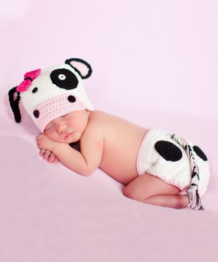 Costum bebelusi crosetat Milkini