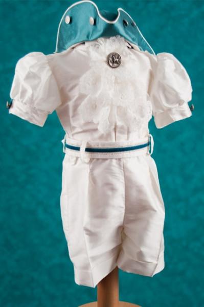 Costumas botez baieti Baby Blue