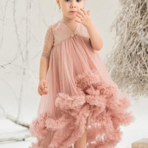 Rochie eleganta Pink Chantilly