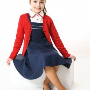 Sarafan fete scoala Paula bleumarin