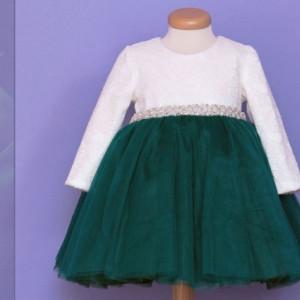 Rochita botez Emerald dress