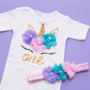 Set body si tutu personalizat Pastel Unicorn