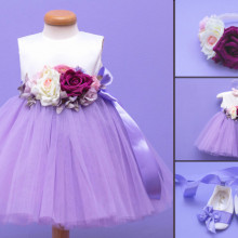 Set botez 3 piese Purple Bouquet