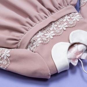 Set botez catifea roz pudra 'Autumn in Velvet'