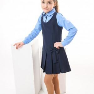 Sarafan fete scoala Adelle bleumarin