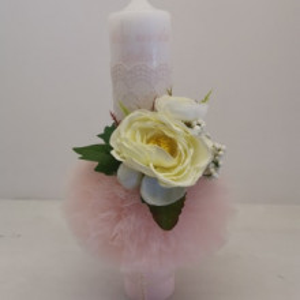Lumanare botez White Rose