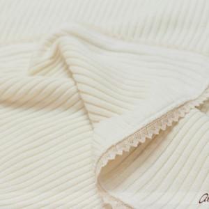 Paturica botez tricot cu danteluta