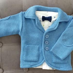 Sacou Baieti tricotat A1 botez