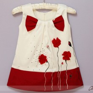 Rochita botez Red Poppies