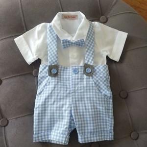 Costum baieti 3 piese Baby Blue