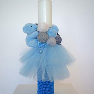 Lumanare botez Baby Blue Ghemotoc