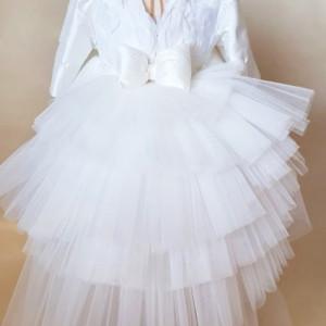 Rochita de lux White Dove (cu maneca lunga)