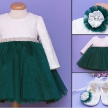 Set botez 3 piese Emerald Dress