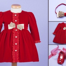 Set botez My Ruby Red Dress