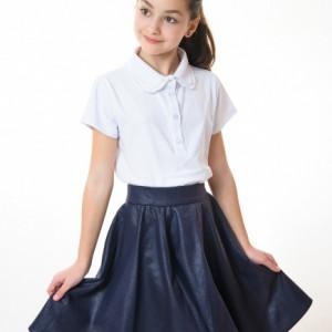Tricou scoala fete alb Julia