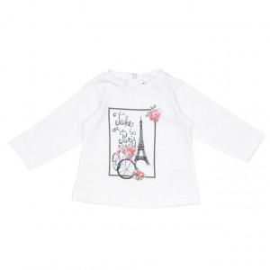 Bluza alba Babybol 10489
