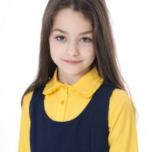Camasa scoala fete galbena