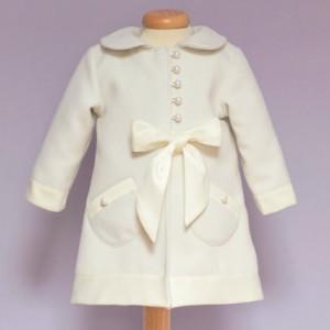 Palton ivoire cu perlute
