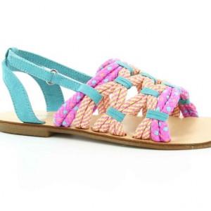 Sandale fete piele Cayos Kickers
