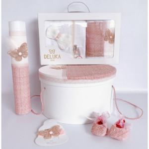 Trusou botez complet fete Pink Butterfly