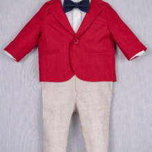 Costum Botez Iridor Red Gentleman