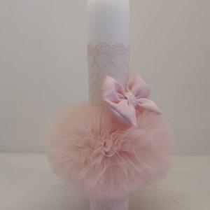 Lumanare botez Pink Bow
