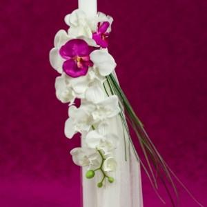 Lumanare de botez Orhidee