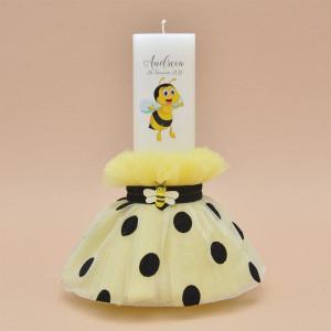Lumanare de botez personalizat Happy Bees