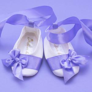 Set botez 3 piese Purple Bouquet