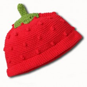 Caciula tricotata copii Capsuna