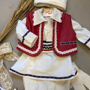 Costum baieti botez traditional Valentin