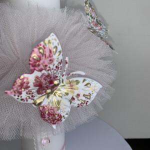 Lumanare botez Pink Butterflies