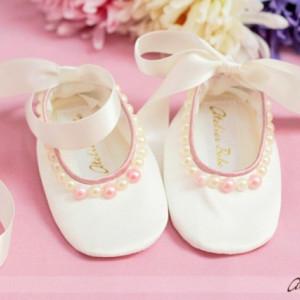 Pantofi bebelusi Pink Poppies
