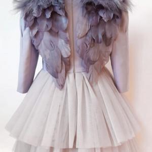 Rochie eleganta lux Ivory Silver Angel