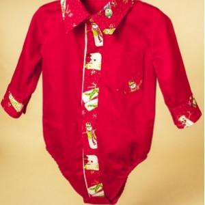 Camasa pentru baieti Red Snowman