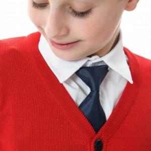 Cravata bleumarin scoala