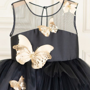 Rochie fete lux Gold Butterfly