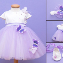 Set botez 3 piese Purple Butterfly