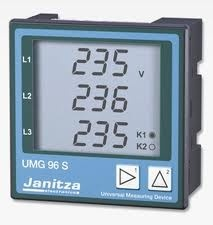 Analizor retea electrica Janitza UMG 96S, iesiri digitale si analogice, comunicatie RS485