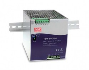 Sursa de alimentare MEAN WELL TDR-960-24, intrare trifazata sau monofazata, iesire 24V, 40A, 960W
