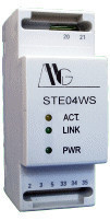 Convertor MG HARDWARE&SOFTWARE ENG. STE04WS, RS485 la Ethernet, server Web