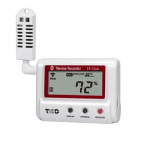 Data logger de temperatura și umiditate T&D TR-72wb, cu WiFi si Bluetooth, memorie interna de 8000 înregistrări, afișaj local