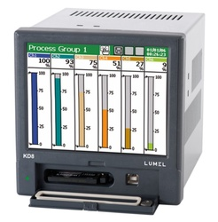 "Data logger LUMEL KD8, touch screen 5.7"", cu 3 sau 6 intrari universale programabile, RS-485, USB"