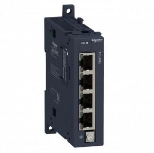 Modul de extensie SCHNEIDER ELECTRIC TM4ES4, switch Ethernet industrial fara management, 4 porturi Ethernet