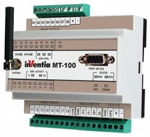 Modul I/O inteligent INVENTIA MT-100, 8DI-DO/2AI 4-20mA, GSM, logger, PLC